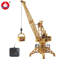 Wholesale fork lift trucks - Wire Control RC Crane Tower RC Truck Fork Lift Construction Vehicle Playset Model Toys 360 Degree Rotate Birthday GIfts 6820L