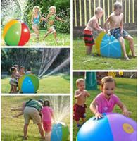 ingrosso fontane di casa-All'aperto gonfiabile all'aperto della famiglia di estate del giocattolo della palla dell'acqua dei bambini del prato inglese di nuoto all'aperto della spiaggia di nuoto dei bambini di 75cm