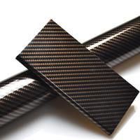 adesivo de filme de vinil brilhante preto venda por atacado-50 * 100 cm 5D Brilhante Fibra De Carbono Preto Do Corpo Do Carro Película Fosco Roxo Interior Envoltório Do Vinil PVC Adesivos para o Estilo Do Carro