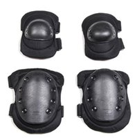 Wholesale skate knee - Knee & Elbow Protector Pads Protector Gear Sports Tactical Cycling Airsoft Combat Skate 4pcs Set EEA229 10PCS