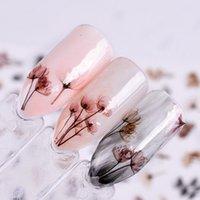 arte das unhas das flores venda por atacado-Dandeli Flor 3D Prego Adesivos Nail Art Adesivo de Transferência de Adesivos Decalques Decor