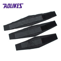 поясничная поясничная поддержка поясницы оптовых-AOLIKES Waist Support Brace Belt Durable Black Lumbar Lower Waist Double Adjustable Back Belt For  Sports Accessories