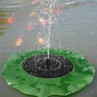 kits de loto al por mayor-2018 Bomba de agua solar Kit de paneles de bomba de agua flotante Kit de bomba de piscina de fuente Estanque flotante de hoja de Lotus Riego Bomba de agua sumergible para jardín