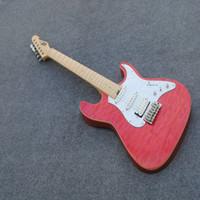 ingrosso chitarra jazz su misura professionale-Chitarra elettrica basso Big pink pink pull board different 6 string 21 pin chitarra elettrica tastiera in palissandro Spedizione gratuita dalla Cina