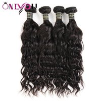 Wholesale amazing hair weave for sale - Amazing Cheap Brazilian Virgin Hair Wefts Water Wave Human Hair Bundles Remy Human Hair Weaves Bundles Natural Wave Factory Deals