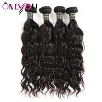 Wholesale amazing hair weave online - Amazing Cheap Brazilian Virgin Hair Wefts Water Wave Human Hair Bundles Remy Human Hair Weaves Bundles Natural Wave Factory Deals