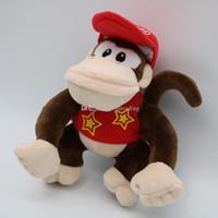 jouets en peluche d'âne achat en gros de-Peluches Super Mario Bros 2018 nouveaux Mario Monkeys et peluches Donkey Kong 20cm / 8 pouces poupées de bande dessinée C4145