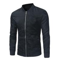erkek çizgili ceketi toptan satış-2018 Ücretsiz kargo Boys 'büyük kod, koyu çizgili yakalı, rahat ceket, erkek eğitim beyzbol takımı. cxy97