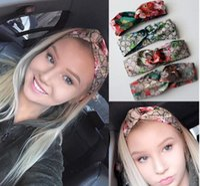 Wholesale Turban Party Women - Designer 100% Silk Cross Headband Fashion Luxury G Elastic Star Hairband For Women Girl Retro Turban Headwraps Gifts