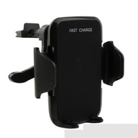 зарядное устройство для док-станции оптовых-Оптовая высокое качество Qi беспроводной автомобиль быстрое зарядное устройство вакуумный патрон база стенд приборной панели воздухозаборник полка держатель для Samsung S7 iPhone 8