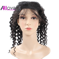Wholesale front lace wigs free human hair for sale - Group buy Cheap A Brazilian Hair Indian Peruvian Lace Front Wigs Deep Wave Human Hair Lace Front Wigs Density Good Quality