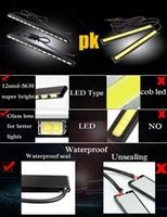 Wholesale car led housing - 2pcs Super Bright Daylight Led Strip Light Source SMD LEDs Aluminum Housing Car Styling Car DRL Daytime Running Light