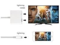 hdmi av konverter box großhandel-Konverter-Kabel des Blitz-Digital-Handelsadapter-HDMI dasselbe Bildschirmgerät für Iphone mit Kleinkasten geben DHL-Verschiffen frei