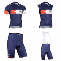 Wholesale Iam Cycling - IAM team Cycling Short Sleeves jersey (bib) shorts Sleeveless Vest sets Breathable bike Short Sleeve Bike Bib Shorts Sportswear D2310