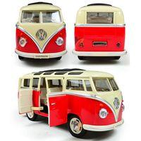 bus jouet vert achat en gros de-NOUVEAU Style jouets jouets éducatifs pour enfants de modèle de voiture échelle échelle de voiture, vert rouge couleur Miniature voiture jouets de collection pour cadeau d'anniversaire