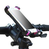 carrinho de moto para motos venda por atacado-Bicicleta-telefone rack geral bicicleta elétrica mountain bike carrinho de navegação móvel suporte do telefone móvel da bicicleta Truck Racks Acessórios de bicicleta