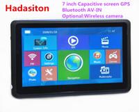Wholesale av navigation - 7 inch Capacitive screen Car GPS Navigation Sat Nav CPU800M 8GB with Bluetooth AV-IN+Free new Maps, Optional rearview camera