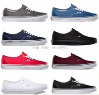 Wholesale Soccer Football Boots Brand - 2018 Vans Authentic Old Skool Low Canvas Shoes Classic Black White Brand zapatillas de deporte Women Mens Casual Sneakers
