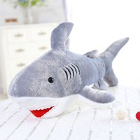 Wholesale stuffed plush fish for sale - Group buy 45cm Kawaii Soft Giant Shark Plush Whale Stuffed Fish Ocean Animals Doll Toys for children kids cartoon toy for baby s gift