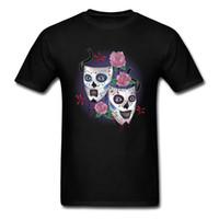 lächeln masken großhandel-Lächeln jetzt weinen Sie später T-Shirt für Mann-Schwarz-T-Shirt Masken-T-Shirt Druck Keine verblassene Kleidungs-Baumwollgewebe-Oberseiten-Hipster-T-Stück Einzigartiger Entwurf