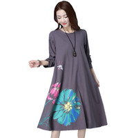 Wholesale maternity clothes for women for sale - Long Sleeve Maternity Dress Loose Large Size Clothes For Pregnant Women Dresses Casual O neck Pregnancy Dress Autumn New
