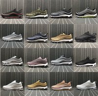 Wholesale Ocean Roses - Air 97 Ultra 17 Running Shoes Lightweight 97 OG Metallic Silver Black Pure White Rose Gold Training Sneakers Eur 36-45