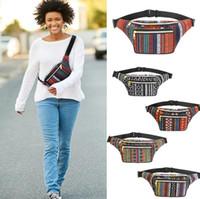 Wholesale bohemian belt women resale online - Bohemian Waist Packs Colors Women Fanny Pack Pocket Waist Belt Bag Travel Phone Pouch Outdoor Crossbody Storage Bags OOA5733