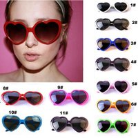 Wholesale Girls Fancy Party Dresses - Retro Love heart shape Lolita sunglasses fashion Fancy dress Party Women
