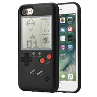 Wholesale iphone plus game case - Mini Handheld Game Consoles Portable Retro Mini Game Console hpone case Silica gel protective sleeve For ipone6 S S PLUS X