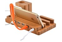 Wholesale iphone charge base online – 3pcs Creative Style IPhone Mobile Phone Charging Support Wooden Watch IPhone Charging Base