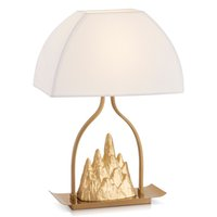 Wholesale Copper Desk - Copper small Jinshan cloth art table lamps Hill table lamp designer warm bedroom bedside gold desk lamps modern light ZA81220