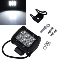 Wholesale cree led motorcycle driving lights - 18W 6*3W CREE LED Work Light Flood Spot Light Offroad Driving LED Light Truck Motorcycle Boat Tractor Barra Working Lights OOA5024