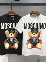Wholesale bear men costume - H01# Hip Hop Luxury Brand MOS Mens T-Shirt Summer Italy Designer T Shirt Short Sleeves Little Bear T-Shirts Men's Tee Hommes Chemise