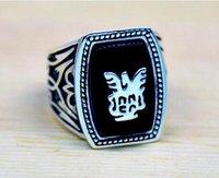 vampir günlükleri film mücevherleri toptan satış-Alaric Ric The Vampire Diaries Canlanma Siyah Yüzük, En Kaliteli Steampunk Antik Gümüş Film Takı
