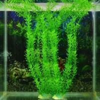 plantação paisagística venda por atacado-30 CM Simulação planta aquática água baunilha grama aquários enfeites de tanque de peixes paisagismo grama artificial suprimentos para animais de estimação material plástico
