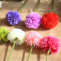 Wholesale 44cm long wedding Flower cm head artificial hydrangea flower ball Wedding table centerpiece flower ball Home Party Decoration
