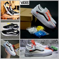 Wholesale Hard Walls - 2018 Vans Old Skool Running Shoes off the wall zapatillas de deporte Designer Fashion Casual Famous Brand Canvas Sneakers white 35-44