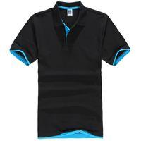 jersey de talla grande al por mayor-Plus Size Xs -3xl Marca Polo para hombre Camisa de manga corta de algodón para hombre Marcas Jerseys Camisas para hombre Camisas de polo