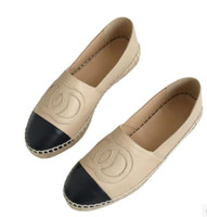 Wholesale simple ladies flat shoes - Women flats Classic Simple Luxury Original fashion Brand Top Quality Ladies Flat Genuine Leather Thick bottom loafers Espadrilles Shoes