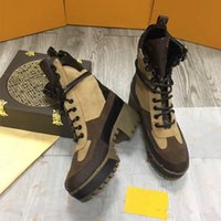 Wholesale Thick Soled Boots Women - winter women short boots leather thick soles Martin boots Quality head layer cowhide + fine cow inside the wool legs import suede size 42