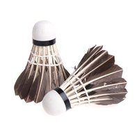 drophipping badminton achat en gros de-12pcs Top Grade Plume Badminton Formation Volant Durable Tête De Mousse dropshipping