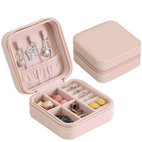 Wholesale jewelry display travel case resale online - Elegant Unique Design Jewelry Box Travel Storage Case For Earring NecklaceRing Organizing Display For Girls Cosmetic