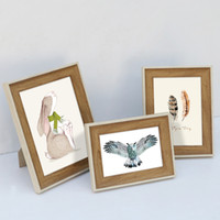 """5/""""//6/""""//7/""""//8/""""//10/"""" Room Decor Wooden Picture Photo Wall Frame Square Multi-size"""