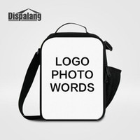 Wholesale food photos - Women's Food Bag Small Lunch Bags Print Your Own Logo Photo Lunchbox For School Children Customize Design Cooler Bags For Students Lancheira
