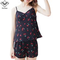 53425a4e46 Wholesale spaghetti strap nightgown for sale - Wechery Two Pieces Pajamas V  Neck Vest amp Shorts