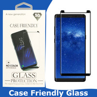Wholesale galaxy s10 case with screen protector for sale – best For Galaxy S10 S10E S9 Note S8 Plus S7 edge D Case Friendly Screen Protector Samsung Curved Tempered Glass With Retail Box