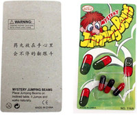 Wholesale magic jumps - Adult Kids Favor Fun Jumping Beans Pill Like Magic Bean Hand Operation Party Funny Costume Accessories)