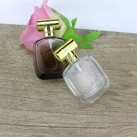 garrafa de perfume redonda vazia venda por atacado-Frasco De Vidro Redondo 30ml Com Pulverizador Atomizador 30cc Frasco De Perfume De Vidro Espessura Vazio Recarregável Vazio F373