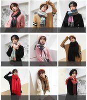 Wholesale plaid christmas scarf resale online - 18styles Women Plaid Scarves Grid Tassel Wrap Oversized Shawl Tartan Cashmere Scarf Winter Neckerchief Lattice Blankets Party Favor GGA840