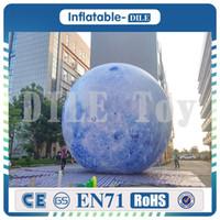 ingrosso ha condotto la sfera chiara-Spedizione gratuita porta a porta 10ft 3m illuminazione a LED gonfiabile luna palloncino all'aperto LED illuminato luna sfera gonfiabile